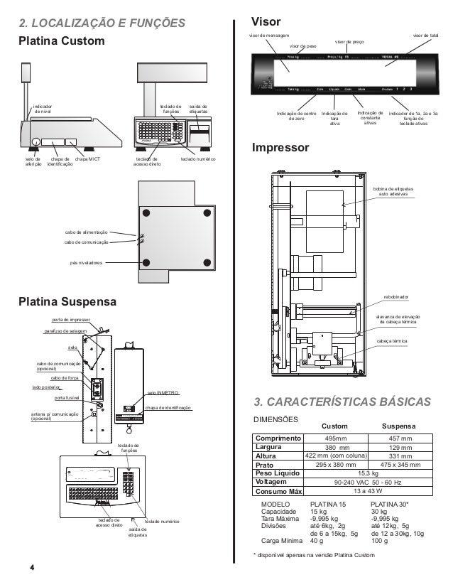 Filizola manual do usuário balança com impressor platina