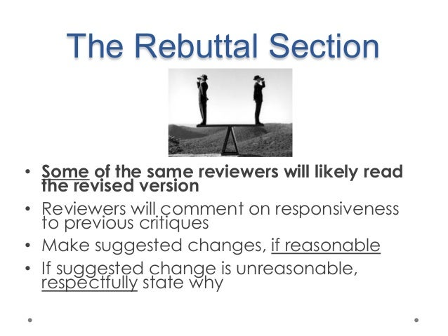 how to do a rebuttal