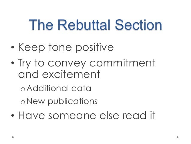 how to write a rebuttal
