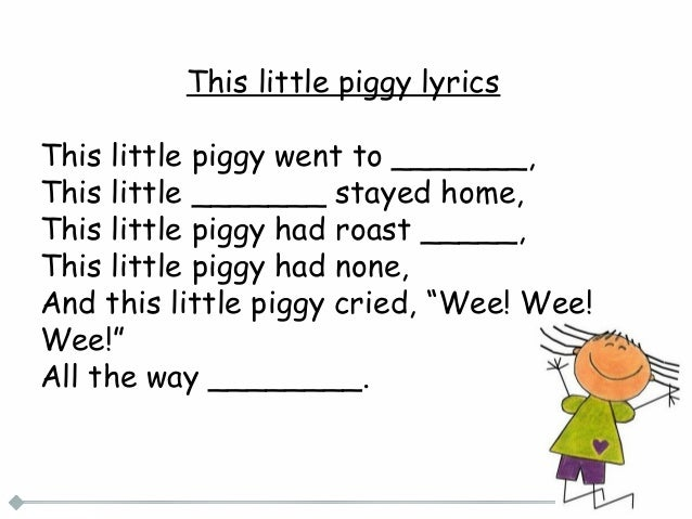 Fill in the blank nursery rhymes