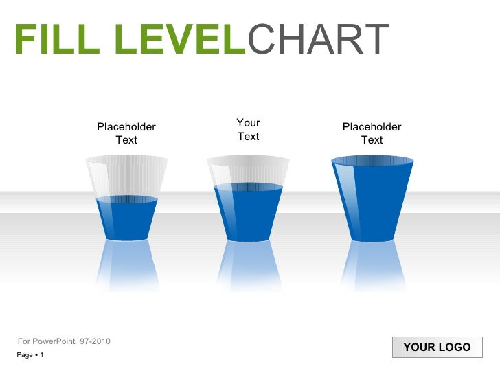 Your Text Placeholder Text Placeholder Text FILL LEVEL CHART For PowerPoint  97-20 10