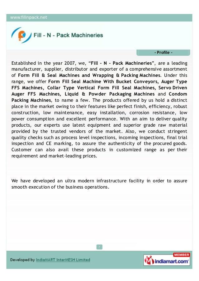 Fill - N - Pack Machinaries, Faridabad, Packing Machine Slide 2
