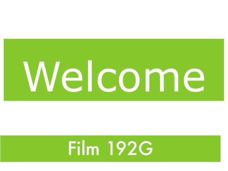 Welcome  Film 192G