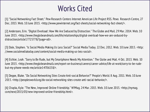 social networking works cited Social networking news find breaking news, commentary, and archival information about social networking from the latimes.