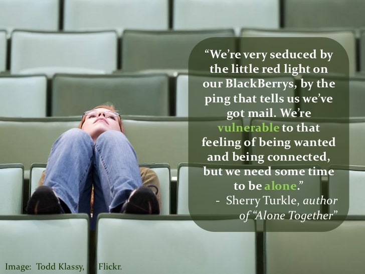 alone together by sherry turkle essay