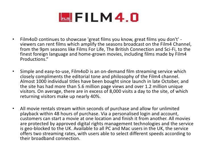 Film4s 2011 releases:•   Kevin Macdonalds The Eagle•   Richard Ayoades Submarine•   Joe Cornishs Attack The Block (recentl...