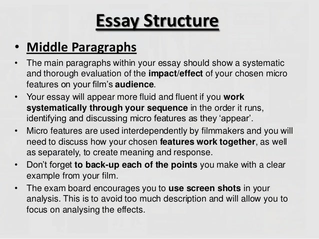 Movie Analysis Essay  Underfontanacountryinncom Film Analysis Launch Gcse  Science Topics For Essays also Theme For English B Essay  Reflective Essay Thesis