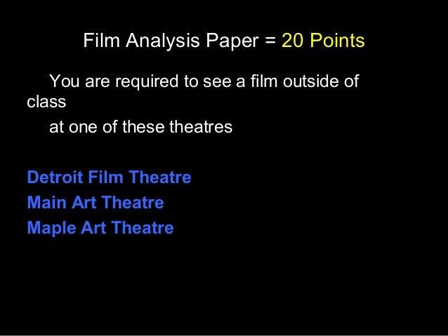 Film Analysis Paper
