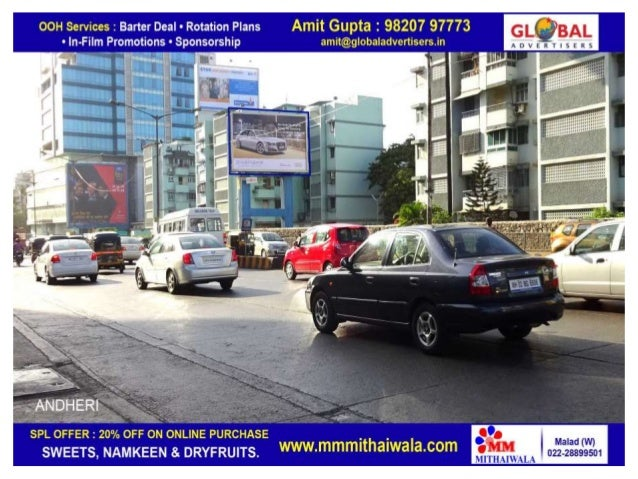 Film branding on outdoor publicity for automobiles  global advertisers