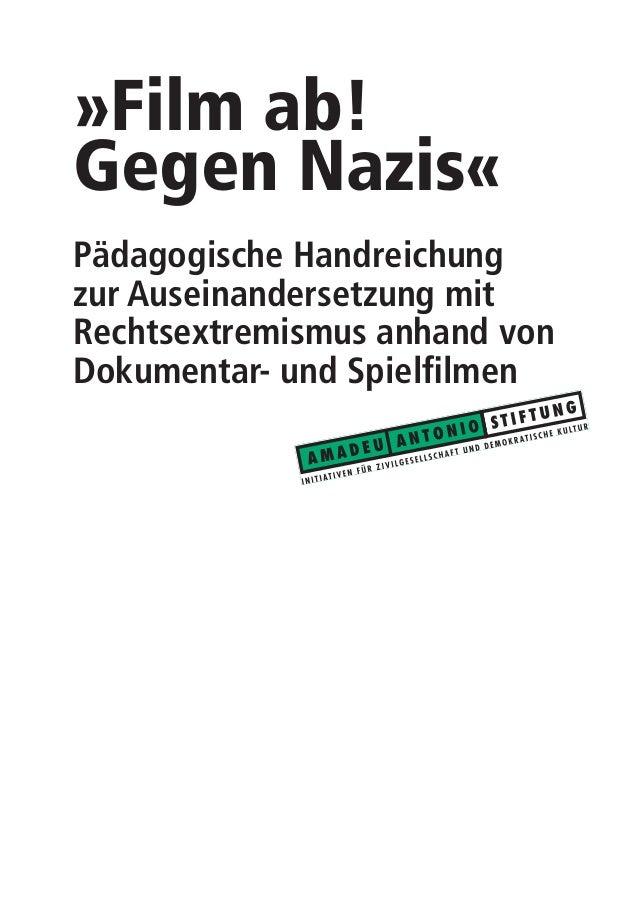"""Filmbroschüre """"Film ab gegen Nazis"""" mit Filmempfehlungen der Amadeu-Antonio-Stiftung Slide 3"""