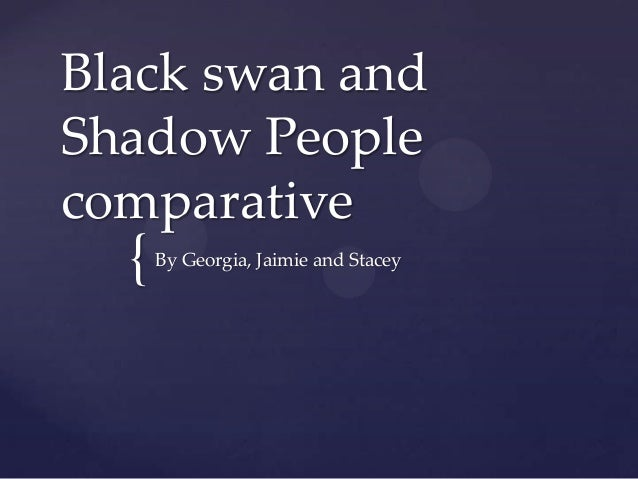swan and shadow