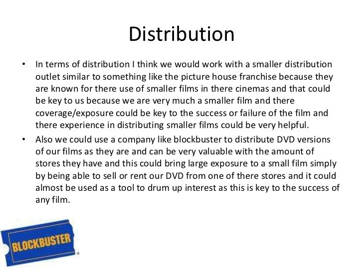What kind of media institution might distribute your media product and why?   Slide 3