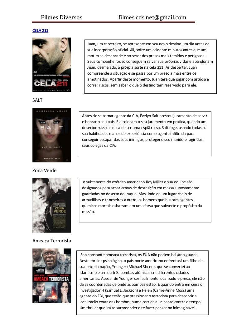 Filmes Diversos                       filmes.cds.net@gmail.comCELA 211                        Juan, um carcereiro, se apre...
