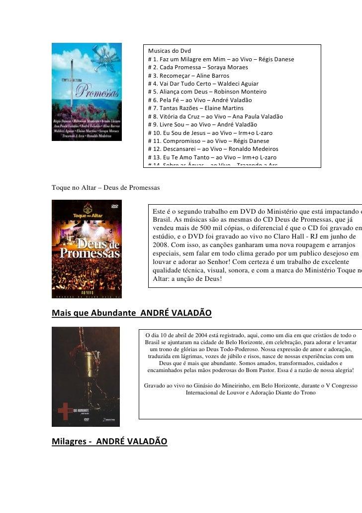 NO BAIXAR TOQUE DE DVD DEUS ALTAR PROMESSAS
