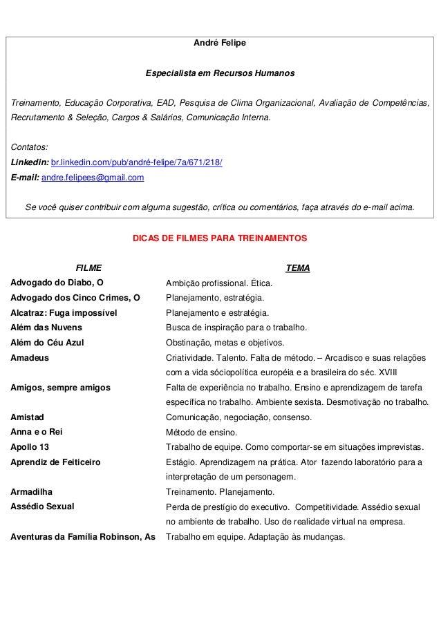 André Felipe Especialista em Recursos Humanos Treinamento, Educação Corporativa, EAD, Pesquisa de Clima Organizacional, Av...