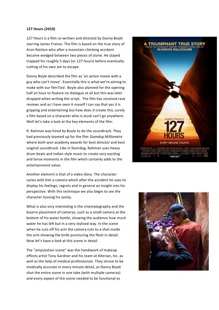127 Hours (2010)<br />36556952984500127 Hours is a film co-written and directed by Danny Boyle starring James Franco. The ...