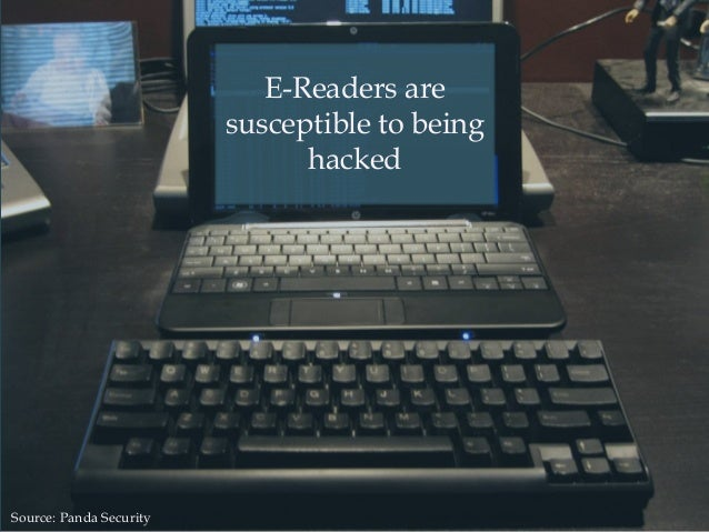 E-Readers are susceptible to being hacked Source: Panda Security