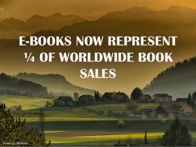 E-BOOKS NOW REPRESENT ¼ OF WORLDWIDE BOOK SALES Source: Statista