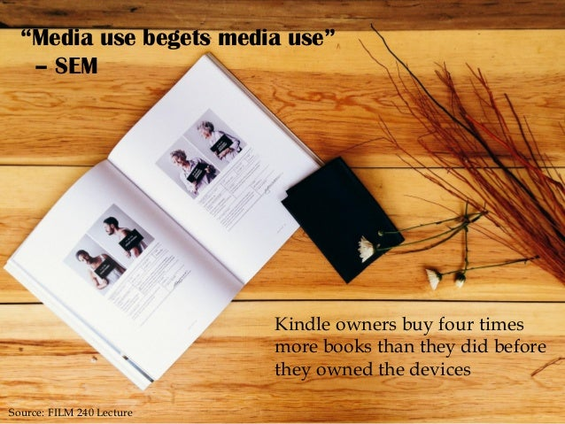 """Kindle owners buy four times more books than they did before they owned the devices """"Media use begets media use"""" – SEM Sou..."""