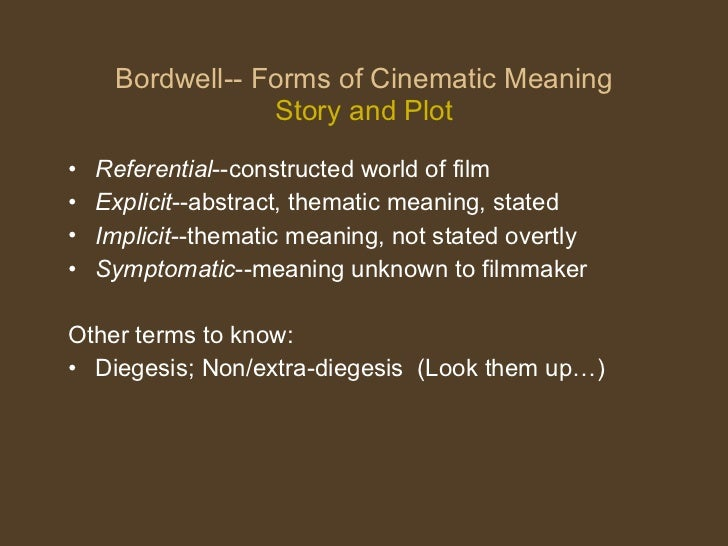 Film form -early cinema, meaning,narration