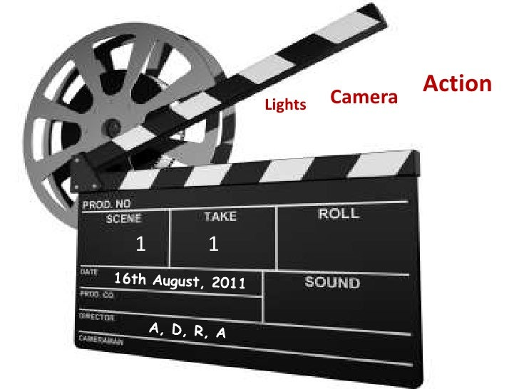 Action<br />Camera <br />Lights <br />1<br />1<br />16th August, 2011<br />A, D, R, A<br />