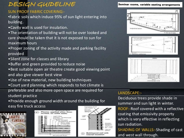 DESIGN GUIDELINE SUN PROOF FABRIC COVERING:- •Fabric soils which induce 95% of sun light entering into building. •Cavity w...