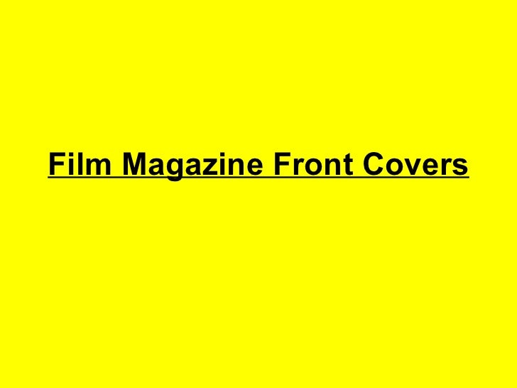 Film Magazine Front Covers