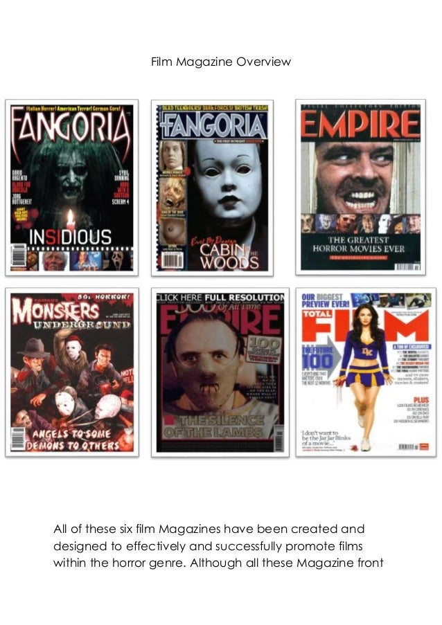 Film Magazine Overview  All of these six film Magazines have been created and designed to effectively and successfully pro...