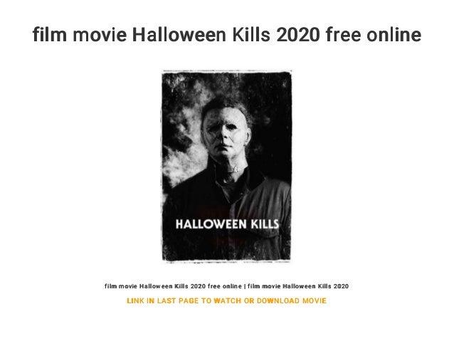 Watch Halloween 2020 Freee film movie Halloween Kills 2020 free online