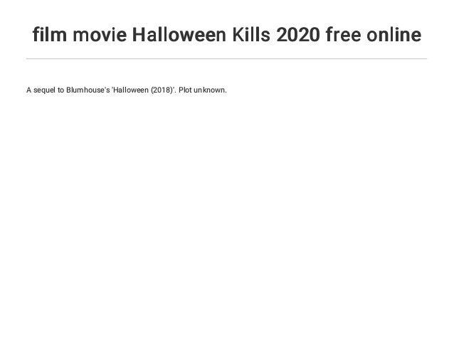 Halloween 2020 Freeonline film movie Halloween Kills 2020 free online