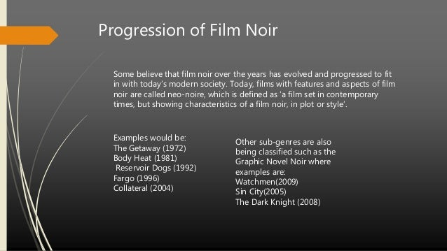 an overview of the film noir Tech noir was a club located on pico boulevard in los angeles, next to the super c ranch market on the night of may 12, 1984, the club was the site of a shooting as.