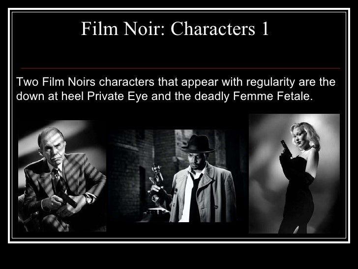 Image result for film noir characters