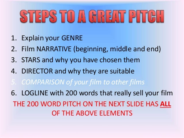 Film pitch