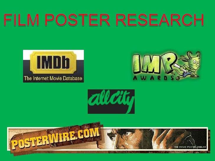 FILM POSTER RESEARCH<br />
