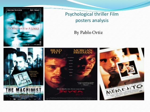 Psychological thriller Film posters analysis By Pablo Ortiz