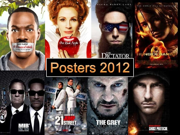 As we can see the Hollywood blockbuster movie posters of 2012 all appear to have thesame basic layout – close up of the fa...