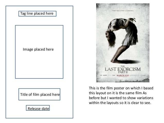 film posters draft layouts