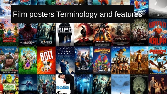 Film posters terminology and features