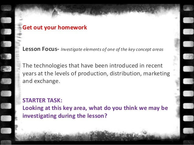Lesson Focus- Investigate elements of one of the key concept areas The technologies that have been introduced in recent ye...