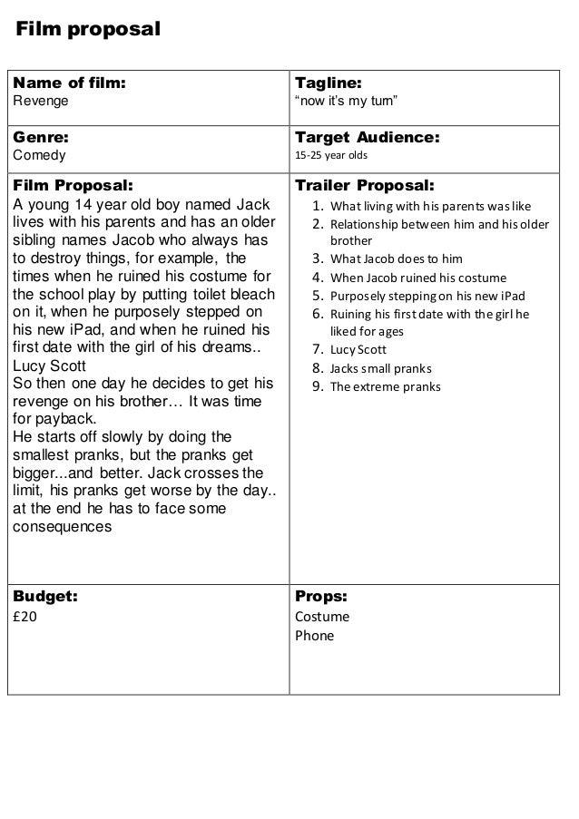 Film proposal revenge