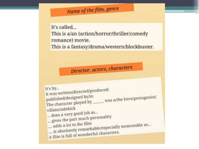 Film Reviews Some Useful Phrases