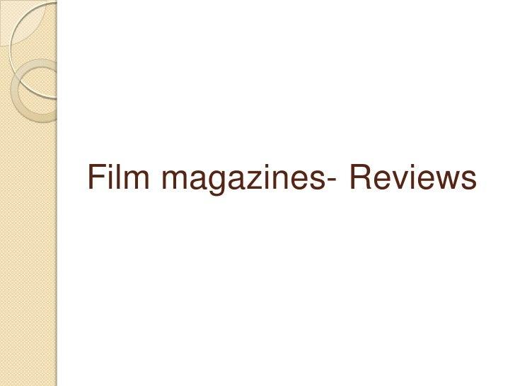 Film magazines- Reviews<br />