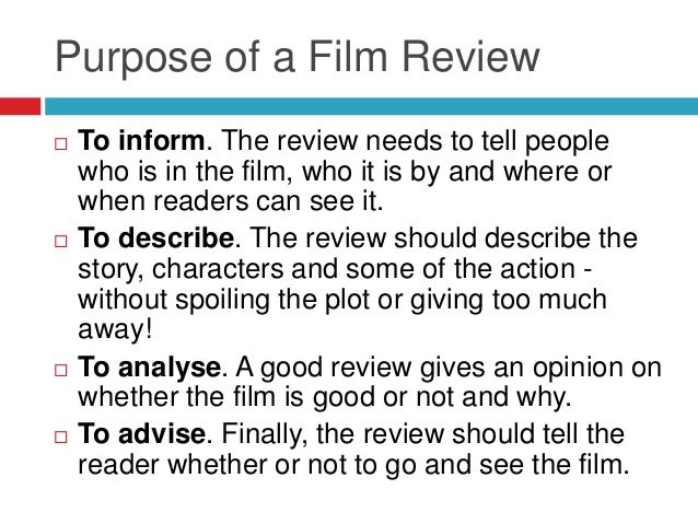 Film review research Slide 2