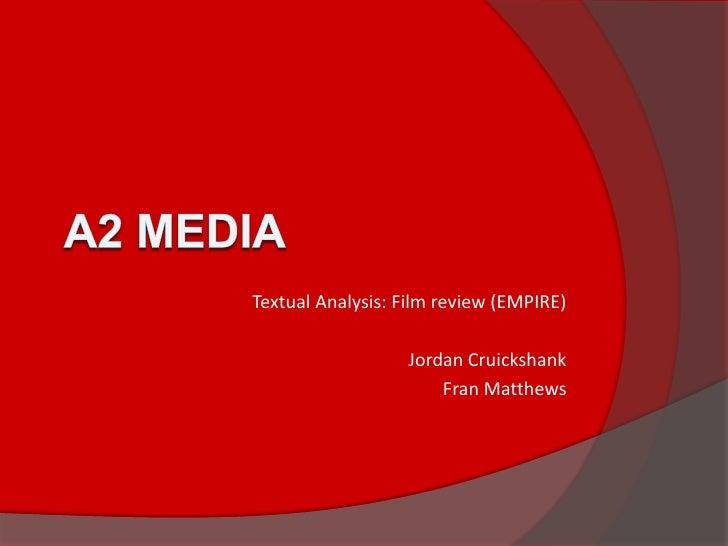 Film reviews analysis
