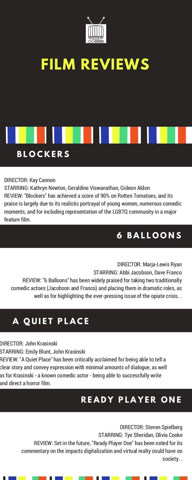 Film Reviews B L O C K E R S Director Kay Cannon Starring Kathryn Newton Geraldine Viswanathan Gideon