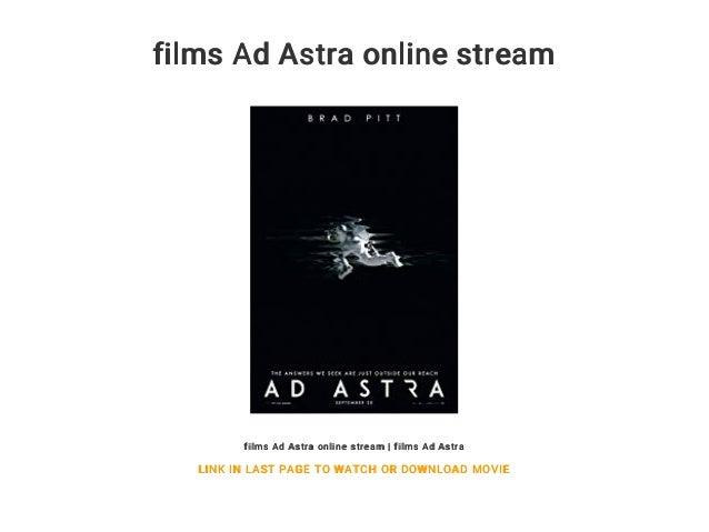 Ad Astra Online Stream