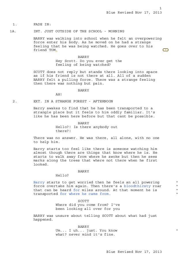 Rory Forrester hero script draft 2