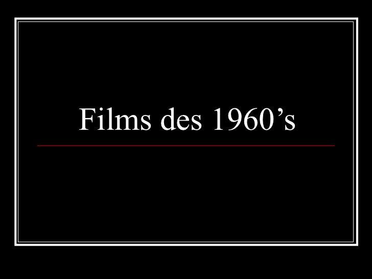 Films des 1960's