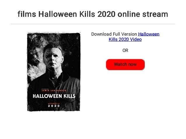 Halloween 2020 Online Stream films Halloween Kills 2020 online stream