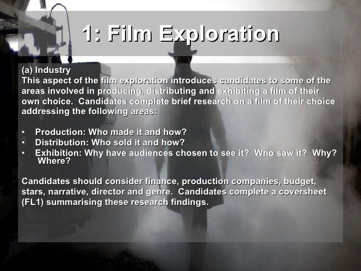 reflective analysis film studies coursework Database of free film studies essays - we have thousands of free essays  across a wide range of subject  mental illness analysis of film session 9 (2001.